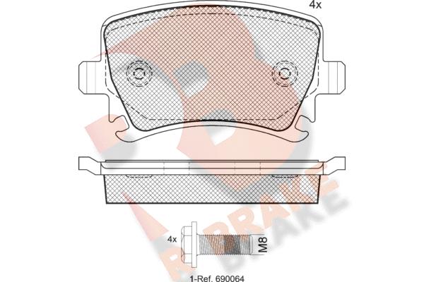 R BRAKE RB1600703   Дисковые тормозные колодки R BRAKE   Купить в интернет-магазине Макс-Плюс: Автозапчасти в наличии и под заказ
