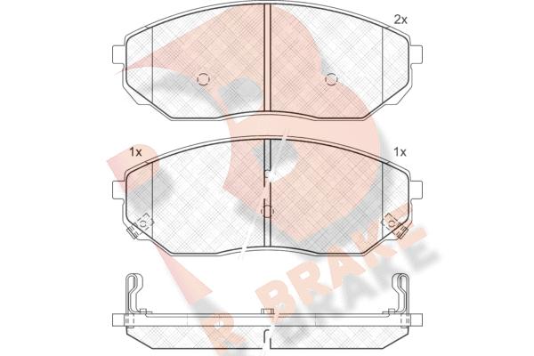 R BRAKE RB1606 | Дисковые тормозные колодки R BRAKE | Купить в интернет-магазине Макс-Плюс: Автозапчасти в наличии и под заказ