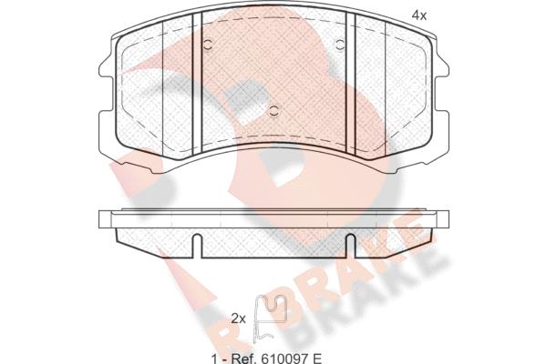 R BRAKE RB1618   Дисковые тормозные колодки R BRAKE   Купить в интернет-магазине Макс-Плюс: Автозапчасти в наличии и под заказ