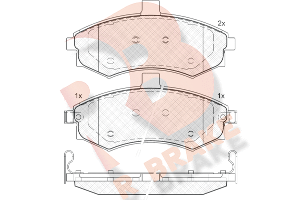 R BRAKE RB1643   Дисковые тормозные колодки R BRAKE   Купить в интернет-магазине Макс-Плюс: Автозапчасти в наличии и под заказ