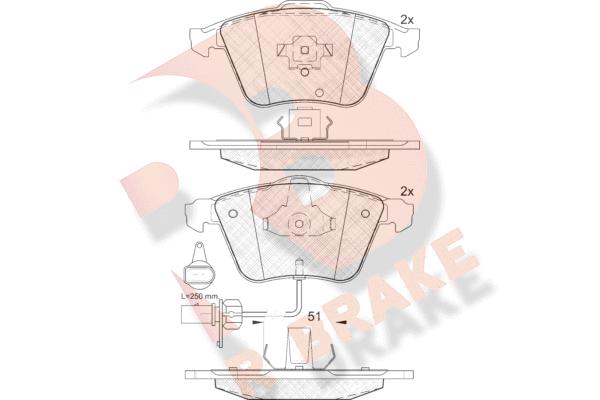 R BRAKE RB1654 | Дисковые тормозные колодки R BRAKE | Купить в интернет-магазине Макс-Плюс: Автозапчасти в наличии и под заказ