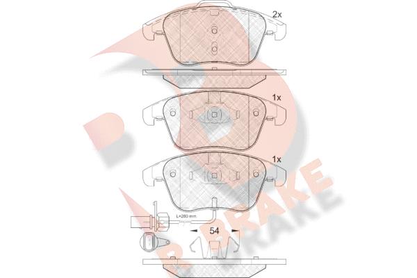R BRAKE RB1864 | Дисковые тормозные колодки R BRAKE | Купить в интернет-магазине Макс-Плюс: Автозапчасти в наличии и под заказ