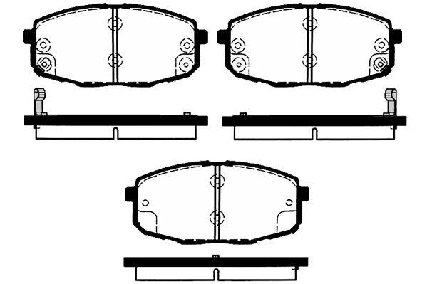 RAICAM RA04870 | Колодки торм.пер. Kia Ceed 07 -, Cerato Koup, Carens II 02 | Купить в интернет-магазине Макс-Плюс: Автозапчасти в наличии и под заказ
