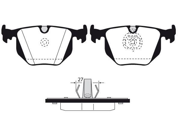 RAICAM RA05541 | Колодки тормозные передние BMW X3 (E83) | Купить в интернет-магазине Макс-Плюс: Автозапчасти в наличии и под заказ