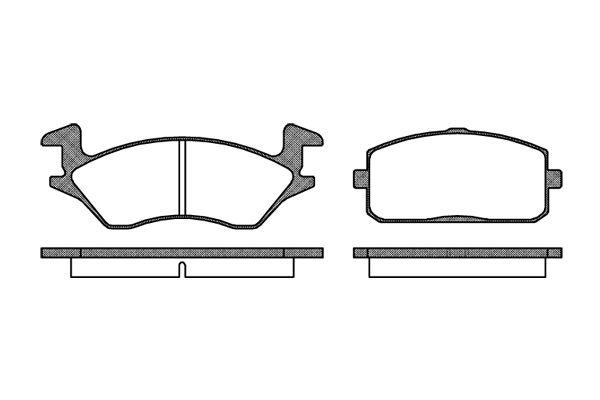 REMSA 010510   105 10 FDB849=D2009-01 !колодки дисковые п.\ Toyota Starlet 1.0/1.3/1.5D 84-89   Купить в интернет-магазине Макс-Плюс: Автозапчасти в наличии и под заказ