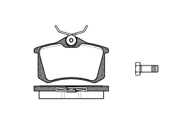 REMSA 026310   Колодки дисковые задние (Audi A3-A8 94>,VW Golf III-IV/Passat 88>, Skoda 96>, Renault Megane/Scenic)   Купить в интернет-магазине Макс-Плюс: Автозапчасти в наличии и под заказ