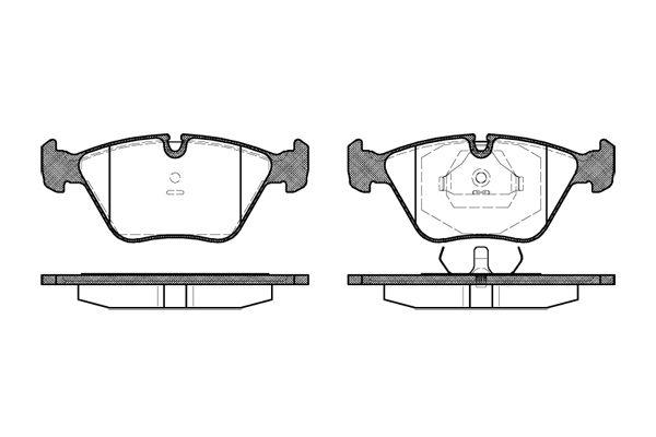 REMSA 027000   Колодки тормозные дисковые /комплект 4 шт/   Купить в интернет-магазине Макс-Плюс: Автозапчасти в наличии и под заказ