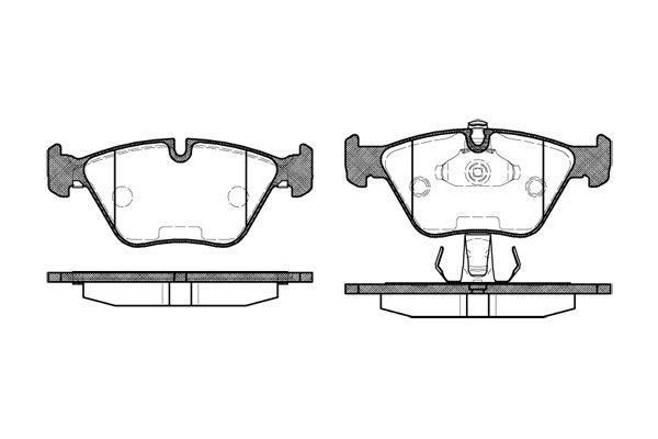 REMSA 027025   Колодки дисковые передние (BMW E39 2.0i-2.8i/2.5TDi 96>/3.5i/3.0D 98-00)   Купить в интернет-магазине Макс-Плюс: Автозапчасти в наличии и под заказ