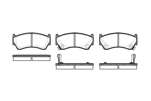 ROADHOUSE 259202 | Колодки тормозные передние | Купить в интернет-магазине Макс-Плюс: Автозапчасти в наличии и под заказ
