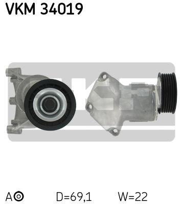 SKF VKM34019 | Ролик | Купить в интернет-магазине Макс-Плюс: Автозапчасти в наличии и под заказ