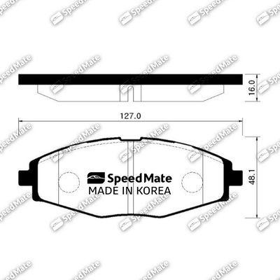 SPEEDMATE SMBPG008 | Колодки DAEWOO NEXIA (R13),MATIZ (M100,M150)/CHEVROLET LANOS (T100) | Купить в интернет-магазине Макс-Плюс: Автозапчасти в наличии и под заказ