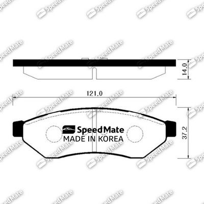 SPEEDMATE SMBPG012 | Колодки зад.CHEVROLET EPICA (V200) | Купить в интернет-магазине Макс-Плюс: Автозапчасти в наличии и под заказ