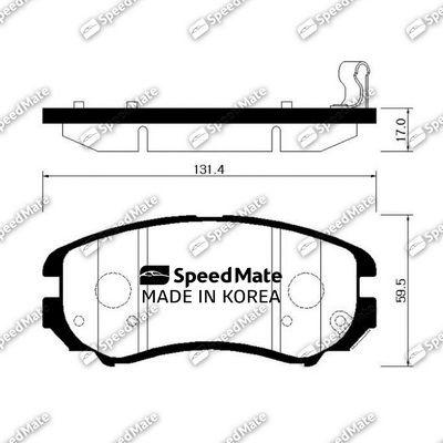 SPEEDMATE SMBPH038 | Колодки HYUNDAI ELANTRA (HD)(2006-2011) | Купить в интернет-магазине Макс-Плюс: Автозапчасти в наличии и под заказ