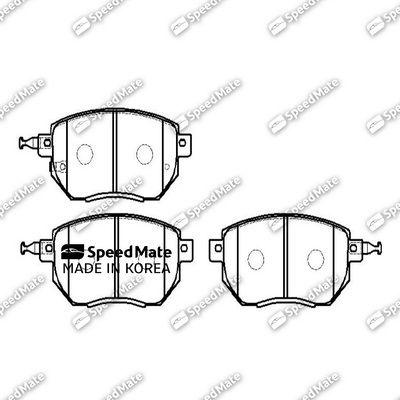 SPEEDMATE SMBPJ217 | Колодки NISSAN MURANO I (Z50)/INFINITI (FX) | Купить в интернет-магазине Макс-Плюс: Автозапчасти в наличии и под заказ