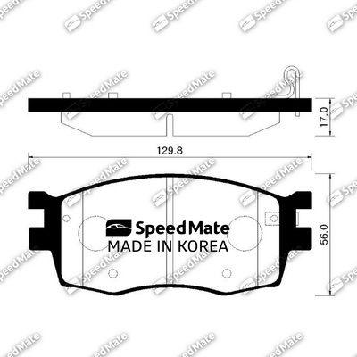 SPEEDMATE SMBPK031 | Колодки HYUNDAI ACCENT (MC)(2005-)/RIO (JB)(2005-2011) | Купить в интернет-магазине Макс-Плюс: Автозапчасти в наличии и под заказ
