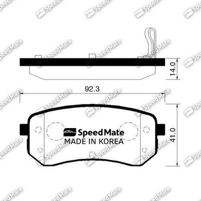 SPEEDMATE SMBPK032 | Колодки KIA PICANTO (BA) (-2011) | Купить в интернет-магазине Макс-Плюс: Автозапчасти в наличии и под заказ