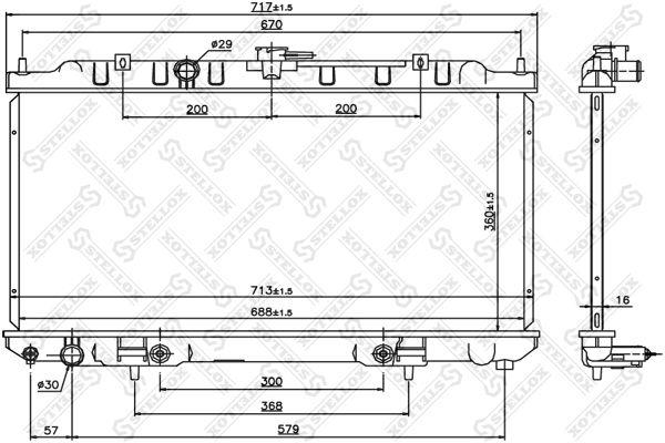 STELLOX 1026768SX | радиатор системы охлаждения!\ Nissan Sunny/Sentra IV 1.8S 00> | Купить в интернет-магазине Макс-Плюс: Автозапчасти в наличии и под заказ