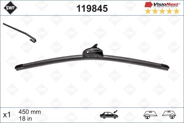 SWF 119845 | Щетка стеклоочистителя бескаркасная | Купить в интернет-магазине Макс-Плюс: Автозапчасти в наличии и под заказ