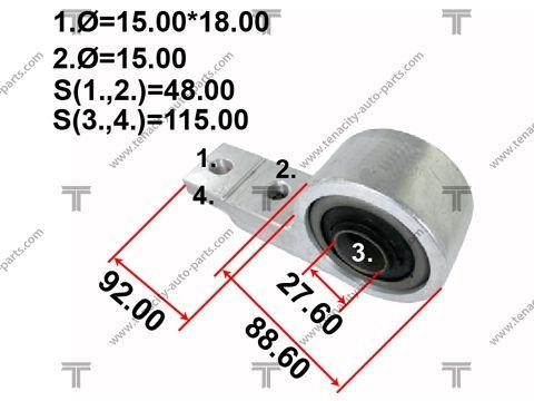 TENACITY AAMNI1035 | Сайлентблок рычага резиновый Tenacity (706) AAMNI1035 Rear | Купить в интернет-магазине Макс-Плюс: Автозапчасти в наличии и под заказ
