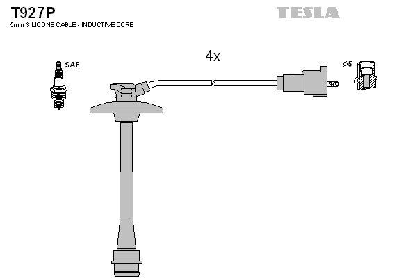 TESLA T927P   Провода высоковольтные компл. TESLA T927P   Купить в интернет-магазине Макс-Плюс: Автозапчасти в наличии и под заказ