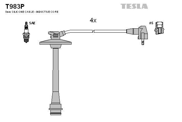 TESLA T983P   Провода высоковольтные компл. TESLA T983P   Купить в интернет-магазине Макс-Плюс: Автозапчасти в наличии и под заказ