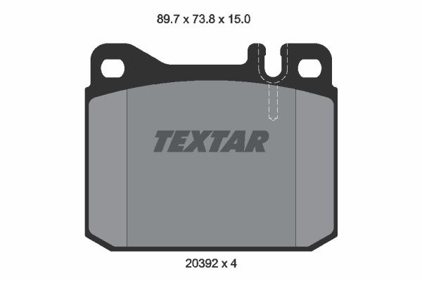 TEXTAR 2039204 | 2039204 колодки дисковые передние!\ MB W123 2.0-3.0D/TD 76-79 | Купить в интернет-магазине Макс-Плюс: Автозапчасти в наличии и под заказ