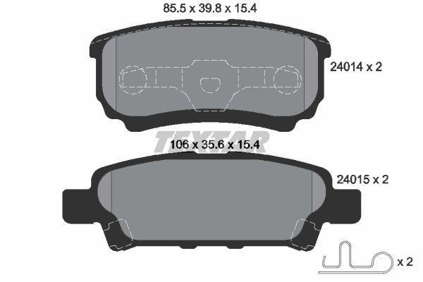 TEXTAR 2401401 | Колодки тормозные дисковые | зад | | Купить в интернет-магазине Макс-Плюс: Автозапчасти в наличии и под заказ