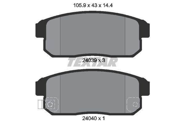 TEXTAR 2403901 | Комплект тормозных колодок, дисковый тормоз | Купить в интернет-магазине Макс-Плюс: Автозапчасти в наличии и под заказ