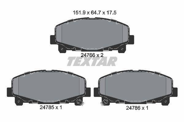 TEXTAR 2476601 | Колодки тормозные дисковые | перед | | Купить в интернет-магазине Макс-Плюс: Автозапчасти в наличии и под заказ