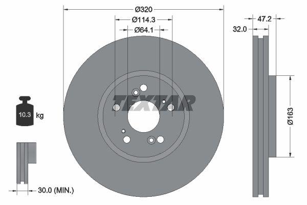 TEXTAR 92194900 | Диск тормозной | перед прав/лев | | Купить в интернет-магазине Макс-Плюс: Автозапчасти в наличии и под заказ
