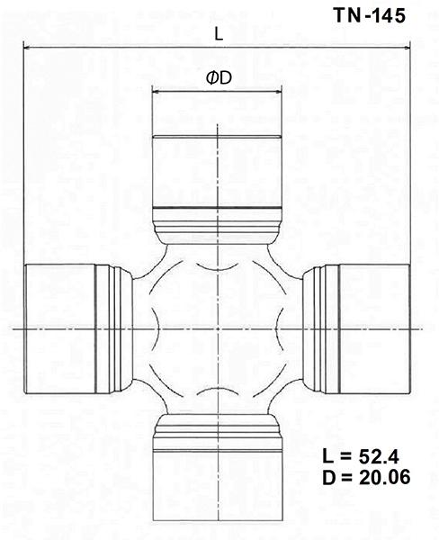 TOYO TN145 | Крестовина карданного вала TOYO | Купить в интернет-магазине Макс-Плюс: Автозапчасти в наличии и под заказ