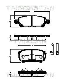 TRISCAN 811042024   Комплект тормозных колодок   Купить в интернет-магазине Макс-Плюс: Автозапчасти в наличии и под заказ