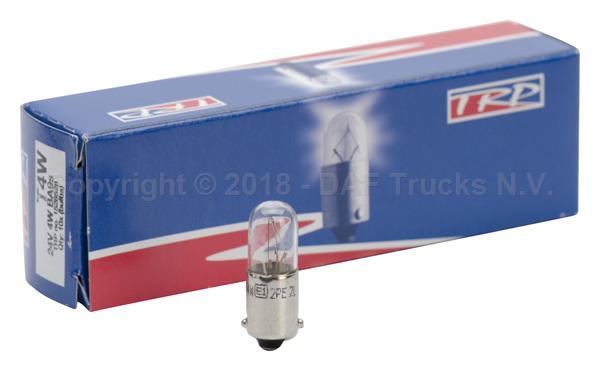 TRP 1528528   Лампочка 24V/4W освещения салона BA9s T4W   Купить в интернет-магазине Макс-Плюс: Автозапчасти в наличии и под заказ