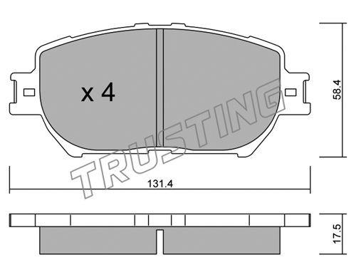 TRUSTING 7670 | К-т дисков. тормоз. колодок Toyota Camry 11.2001- F | Купить в интернет-магазине Макс-Плюс: Автозапчасти в наличии и под заказ