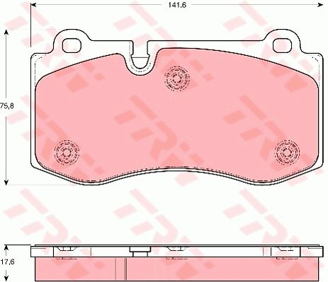 TRW GDB1667 | Колодки тормозные дисковые | перед | | Купить в интернет-магазине Макс-Плюс: Автозапчасти в наличии и под заказ
