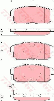 TRW GDB3357 | Колодки задние SUZUKI IGNIS GDB3357 | Купить в интернет-магазине Макс-Плюс: Автозапчасти в наличии и под заказ