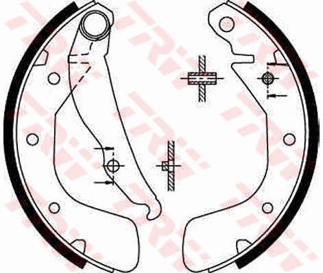 TRW GS8543 | Колодки тормозные барабанные | зад | | Купить в интернет-магазине Макс-Плюс: Автозапчасти в наличии и под заказ