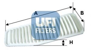 UFI 3045200   фильтр воздушный!\ Toyota RAV 4 2.0/2.4/3.5 06>   Купить в интернет-магазине Макс-Плюс: Автозапчасти в наличии и под заказ