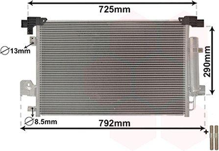 VAN WEZEL 32005210 | Конденсатор | Купить в интернет-магазине Макс-Плюс: Автозапчасти в наличии и под заказ
