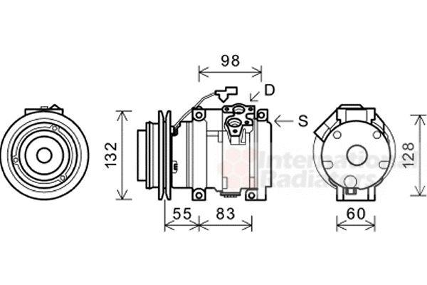 VAN WEZEL 3200K219 | Компрессор | Купить в интернет-магазине Макс-Плюс: Автозапчасти в наличии и под заказ