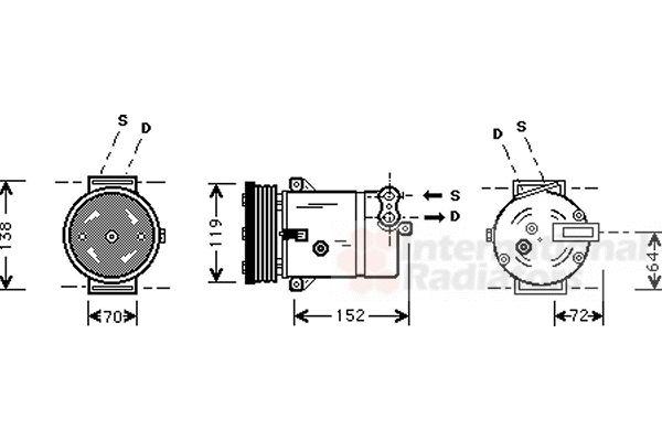 VAN WEZEL 3700K279 | Kompresor, klimatyzacja | Купить в интернет-магазине Макс-Плюс: Автозапчасти в наличии и под заказ