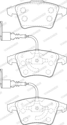 WAGNER WBP23749A   37482(WBP23749A) тормозные_колодки Wagner   Купить в интернет-магазине Макс-Плюс: Автозапчасти в наличии и под заказ