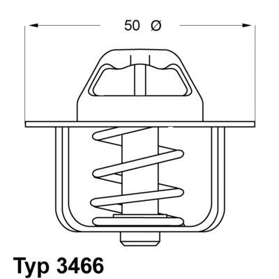 WAHLER 346689D | Термостат | Купить в интернет-магазине Макс-Плюс: Автозапчасти в наличии и под заказ