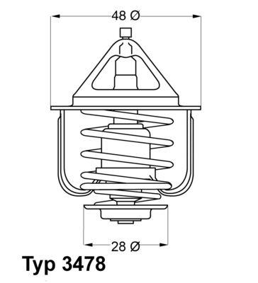 WAHLER 347882D | Термостат (с прокл.) (82 C) | Купить в интернет-магазине Макс-Плюс: Автозапчасти в наличии и под заказ