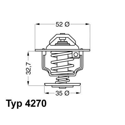 WAHLER 427088D | термостат | Купить в интернет-магазине Макс-Плюс: Автозапчасти в наличии и под заказ