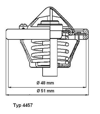 WAHLER 445782D | Термостат (с прокл.) (82 C) | Купить в интернет-магазине Макс-Плюс: Автозапчасти в наличии и под заказ