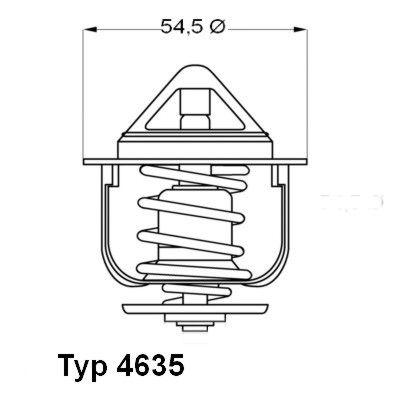 WAHLER 463576 | Термостат | Купить в интернет-магазине Макс-Плюс: Автозапчасти в наличии и под заказ