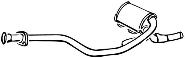 WALKER 15513 | Средний глушитель выхлопных газов | Купить в интернет-магазине Макс-Плюс: Автозапчасти в наличии и под заказ