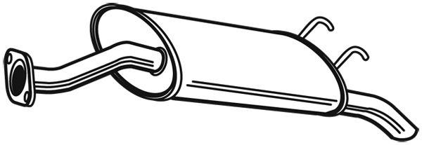 WALKER 23189 | Глушитель системы выпуска, задний | Купить в интернет-магазине Макс-Плюс: Автозапчасти в наличии и под заказ