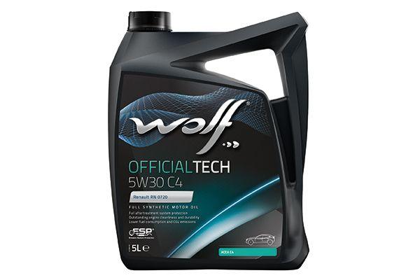 WOLF 8308512   Моторное масло WOLF OFFICIALTECH 5W30 C4 синтетика, 5л/(Wolf, 10115070/060520/0026365/4)   Купить в интернет-магазине Макс-Плюс: Автозапчасти в наличии и под заказ